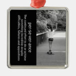 Longboard Girl Perseverance Christmas Tree Ornament
