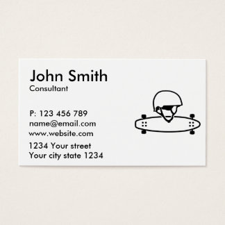 Longboard helmet business card