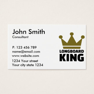 Longboard king business card