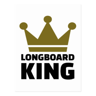 Longboard king postcard
