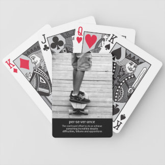 Longboard Perseverance Bicycle Playing Cards