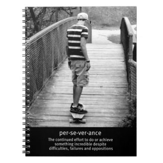 Longboard Perseverance Quote Notebook