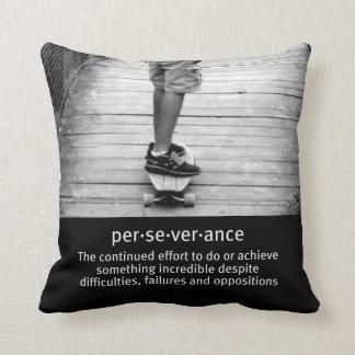 Longboard Perseverance Throw Pillow