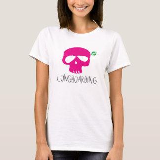LONGBOARD PINK SKULL T-Shirt