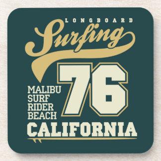Longboard que practica surf el | California 76 Posavasos De Bebidas