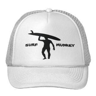 Longboard Surfer silhouette design on trucker hat