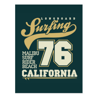 Longboard Surfing | California 76 Postcard