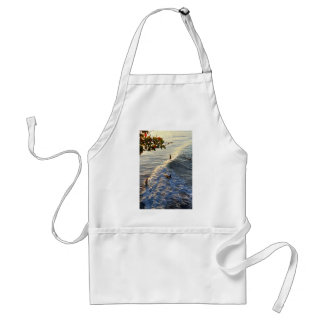 Longboard surfing scenic tropical beach wave adult apron
