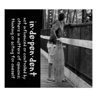 Longboard Teen Attitude Quote Poster