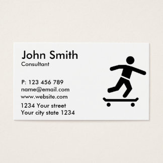 Longboarder Business Card
