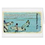 Longboarding Huanchaco Peru Surfing Greeting Cards