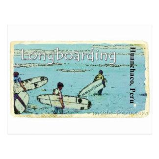 Longboarding Huanchaco Peru Surfing Postcard