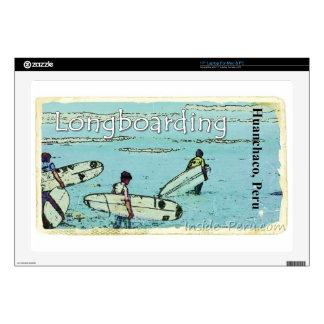 "Longboarding Huanchaco Peru Surfing Skins For 17"" Laptops"