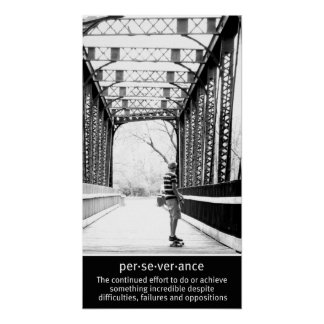 Longboarding Perseverance Poster