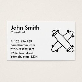 Longboards cruzados tarjetas de visita