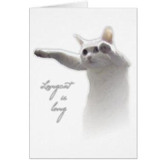 Longcat Risen Greeting Card