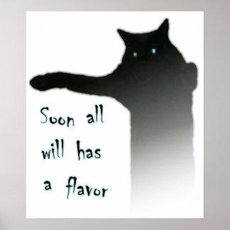 Longcat Tacgnol todo tiene un sabor Póster