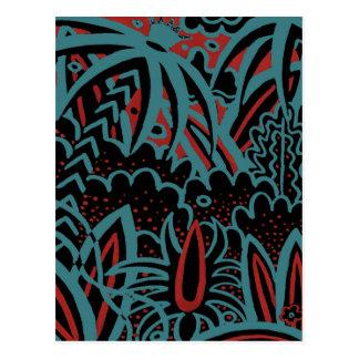 Longchamps; black, green red variation postcard