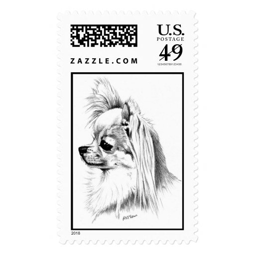 Longcoat chihuahua stamps