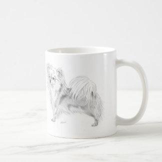 Longcoat chihuahua - standing coffee mug