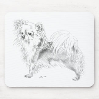 Longcoat chihuahua - standing mouse pad
