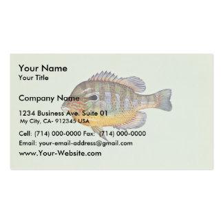 Longear sunfish business card