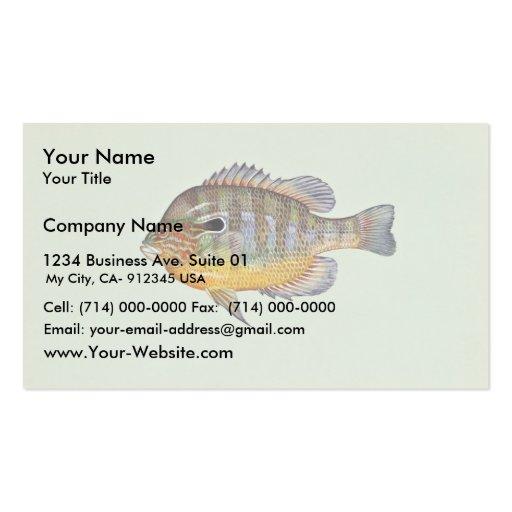 Longear sunfish business card templates