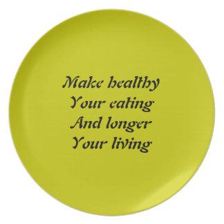 longer living dinner plate