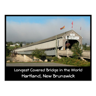 Longest Covered Bridge in the Worl... Postcard
