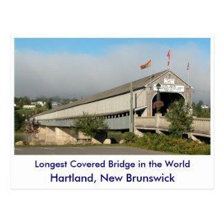 Longest Covered Bridge in the Worl... Postcard