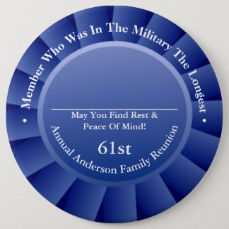 Longest Military Family Member Reunion Awards Button