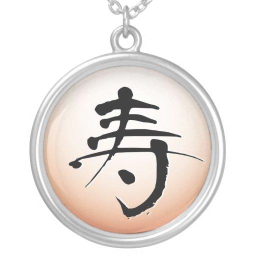 Longevidad, collar del pictograma del kanji