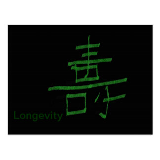 Longevity chinese character post cards