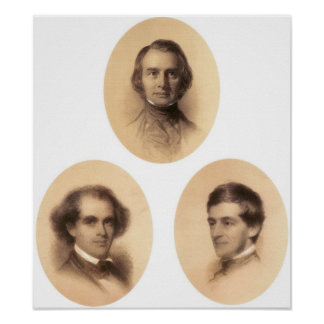 Longfellow, Hawthorne, Emerson Poster