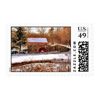 LONGFELLOW'S WAYSIDE GRIST MILL POSTAGE STAMP
