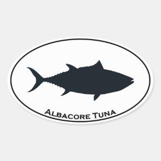 Longfin Albacore Tuna Icon Oval Sticker