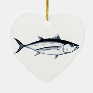 Longfin Albacore Tuna Logo Ceramic Ornament