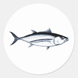 Longfin Albacore Tuna Logo Classic Round Sticker