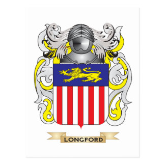 Longford Coat of Arms (Family Crest) Postcard