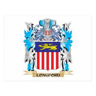 Longford Coat of Arms - Family Crest Postcard