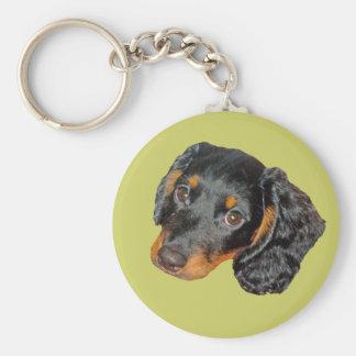 Longhair Dachshund Gift Basic Round Button Keychain