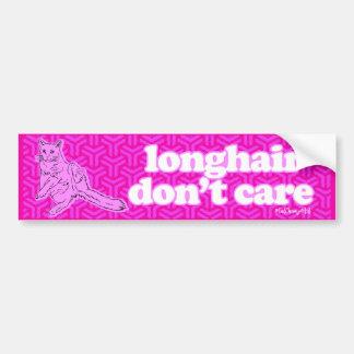 Longhair Don't Care Cat Bumper Sticker