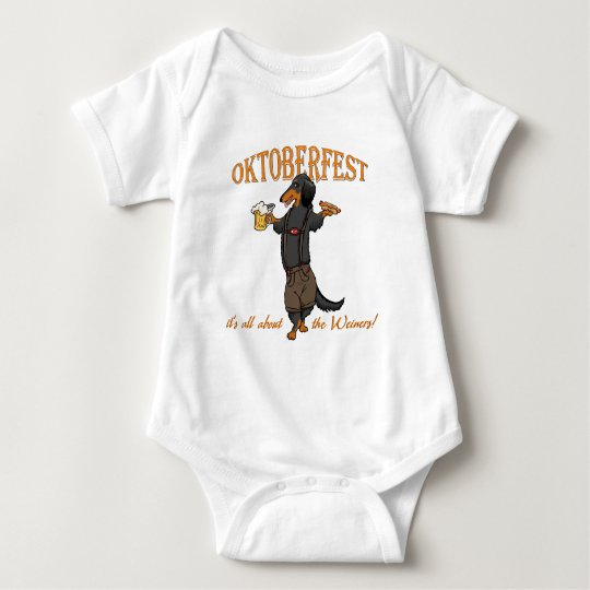 Longhaired Black and Tan Baby Bodysuit
