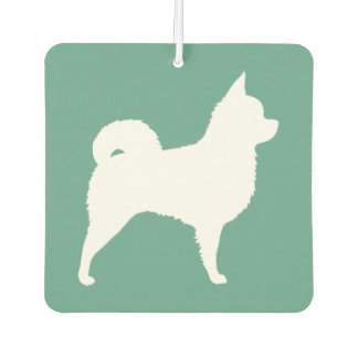 Longhaired Chihuahua Silhouette Car Air Freshener
