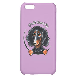 Longhaired Dachshund Black Tan IAAM Case For iPhone 5C