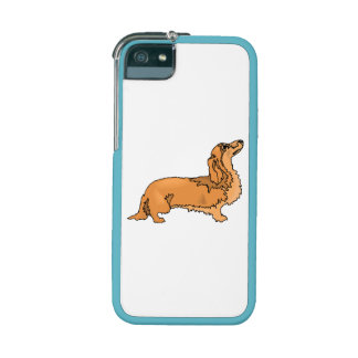 Longhaired Dachshund iPhone 5 Covers