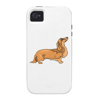Longhaired Dachshund iPhone 4/4S Case