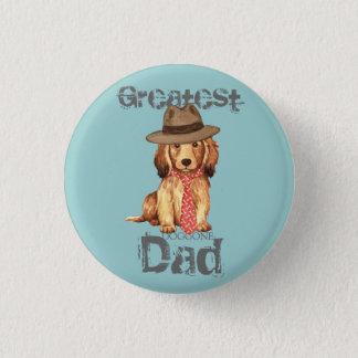 Longhaired Dachshund Dad Button