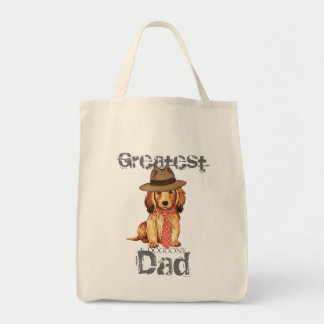 Longhaired Dachshund Dad Tote Bag
