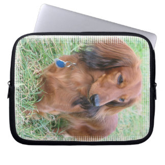 Longhaired Dachshund Electronics Bag Computer Sleeves